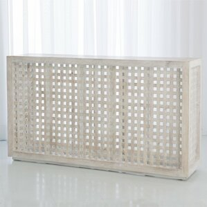 Driftwood Lattice Console Table by Global Views