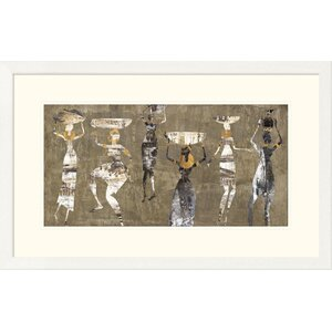 'African Dance' by Cynthia Fields Framed Graphic Art by Global Gallery