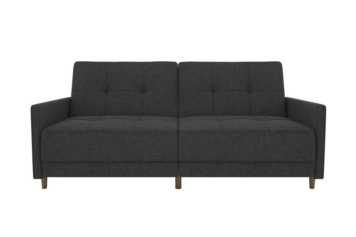 Ziva Linen Convertible Sofa amp Reviews AllModern