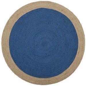 Cayla Fiber Hand-Woven Royal Blue/Natural Area Rug