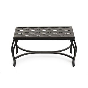 Parthenia Weave Metal Bench
