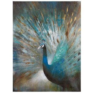 'Peacock Prowess' Painting by Alcott Hill