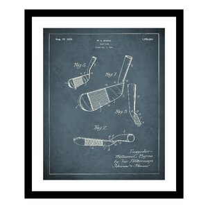 1925 Golf Iron Patent Framed Graphic Art by Replay Photos
