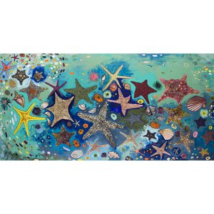 'Metallic Starfish' by Eli Halpin Painting Print Wrapped Canvas by GreenBox Art