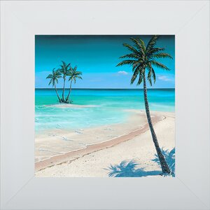 'Beach Palm II' Framed Graphic Art by Pictures and Mirrors