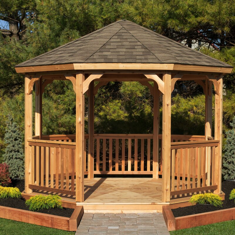 YardCraft 12 Ft. W x 12 Ft. D Solid Wood Patio Gazebo | Wayfair on small deck with gazebo, small garden pavilion, backyard fire pit with gazebo, small outdoor living area ideas, small kitchen design ideas, small outdoor living spaces ideas, small backyard makeovers, small patio gazebo ideas designs, landscaping ideas around a gazebo, small garden ponds ideas patio, small patio gazebo in backyard, small balcony garden ideas, circle with small back yard gazebo, backyards decorating ideas for gazebo, garden gazebo, small front yard landscaping ideas, shabby chic decorating ideas gazebo,