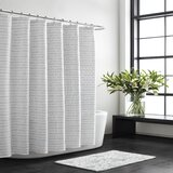 Textured Stripe Single Shower Curtain by Vera Wang