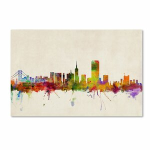 San Francisco, California by Michael Tompsett Graphic Art on Wrapped Canvas by Trademark Fine Art