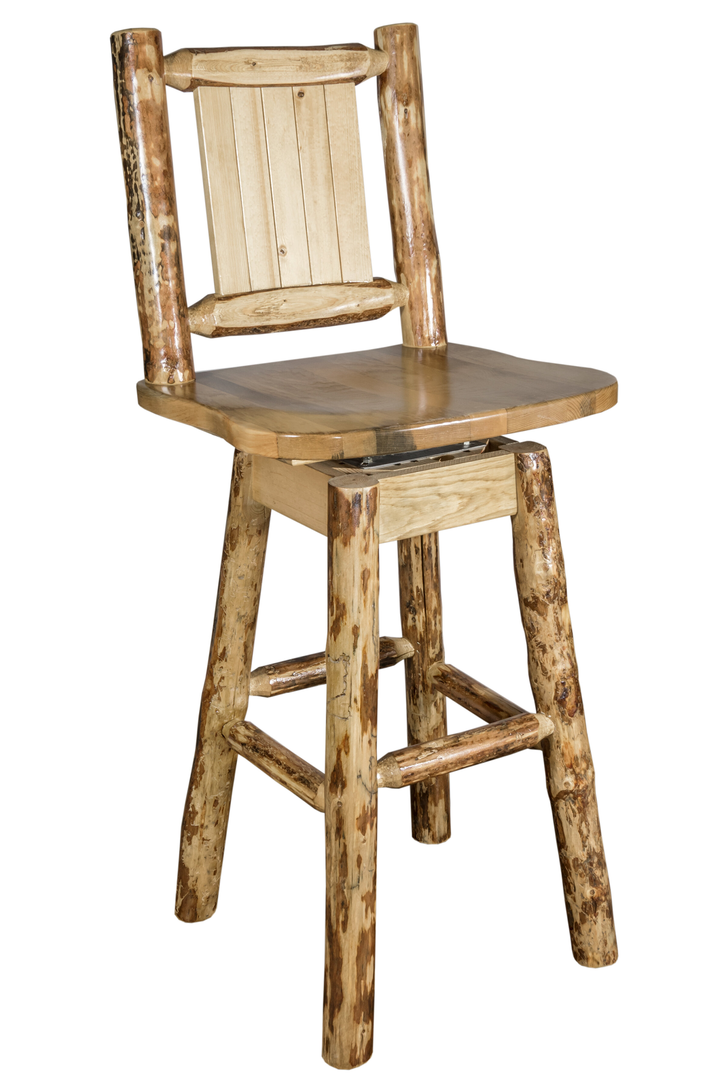 Loon Peak Tustin 24 Wood Swivel Bar Stool Wayfair