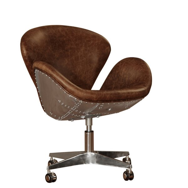 Brown Leather Desk Chair C50