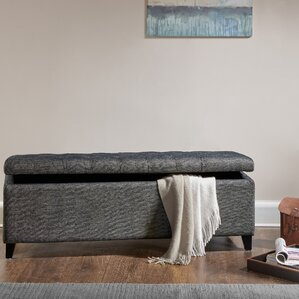 Holoman Upholstered Storage Bench by Alcott Hill