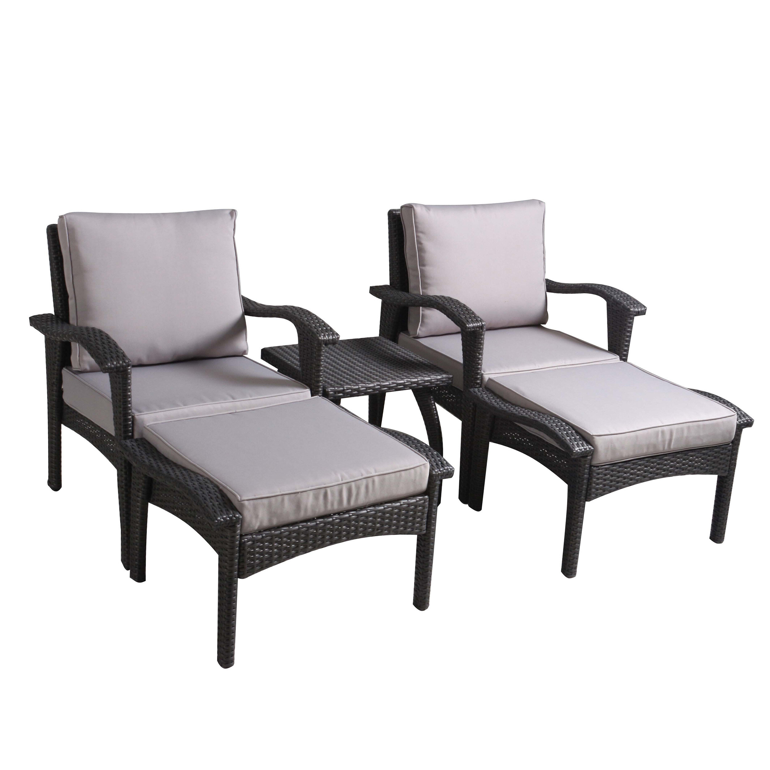 Beacon All Weather Wicker/Rattan 2 - Person Seating Group with Cushions
