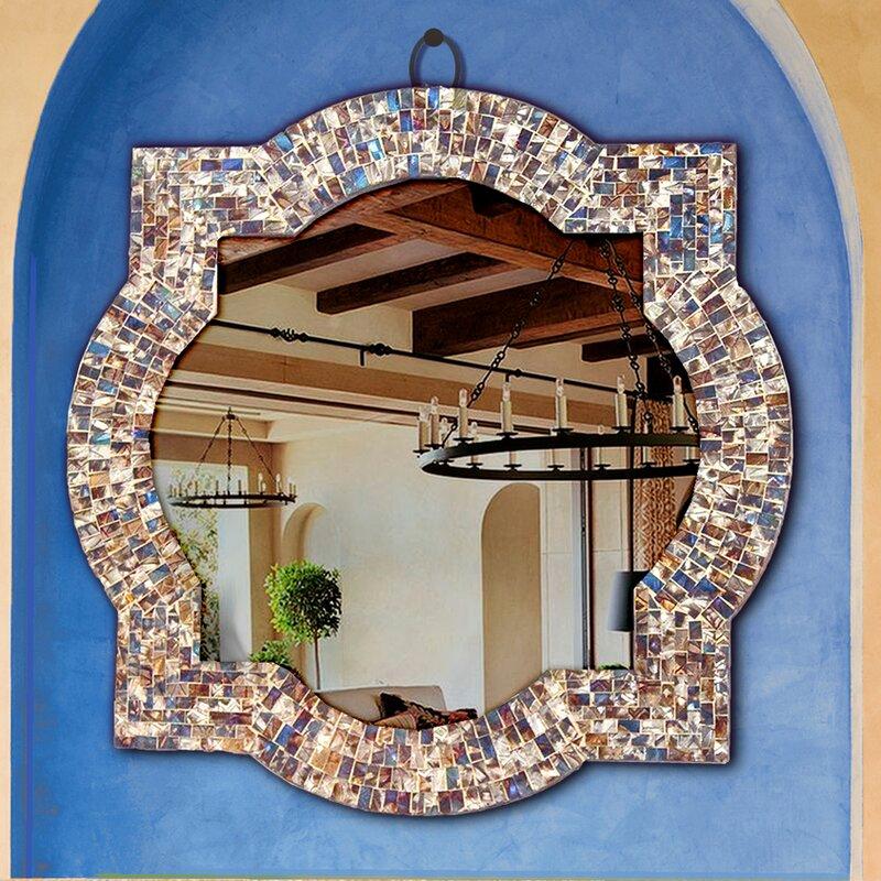 Alvarez Quatrefoil Frame Bathroom Vanity Wall Mirror