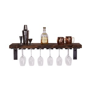 Wall Mounted Wine Glass Rack by Del Hutson Designs