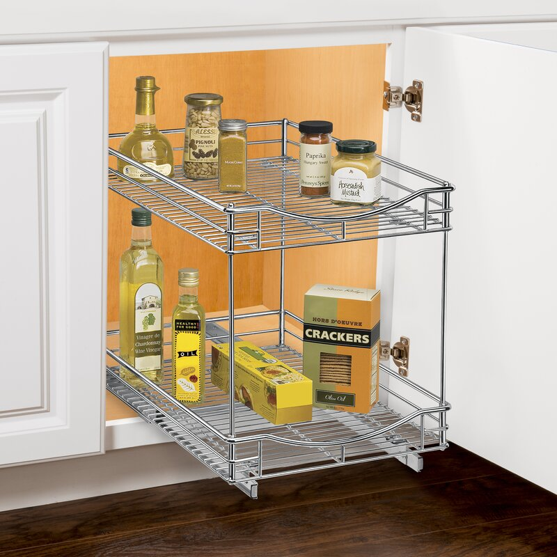 Lynk Lynk Professional® Roll Out Double Shelf Pull Out Two Tier ...