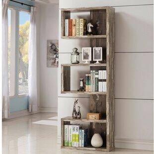 Pascarella Distressed Wooden Open Corner Unit Bookcase ByUnion Rustic
