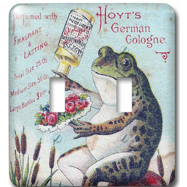 German Frog 2-Gang Toggle Light Switch Wall Plate by 3dRose