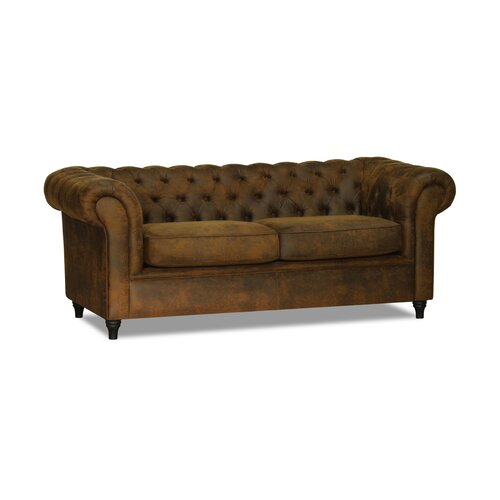 Littlehampton 3 Seater Chesterfield Sofa Fairmont Park Upholstery: Cognac