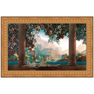 Daybreak, 1922 by Maxfield Parrish Framed Painting Print by Design Toscano