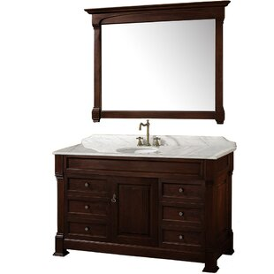 Buying Andover 55 Single Dark Cherry Bathroom Vanity Set with Mirror By Wyndham Collection