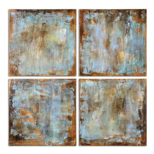 'Accent Tiles Modern' 4 Piece Painting on Canvas Set by Brayden Studio
