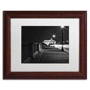 'Lincoln Memorial Bridge' by Gregory O'Hanlon Framed Photographic Print by Trademark Fine Art