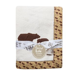 Find for Caraballo Framed Fleece Receiving Blanket with Bears Applique ByZoomie Kids