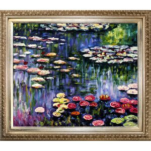 Water Lilies by Claude Monet Framed Painting Print by Tori Home