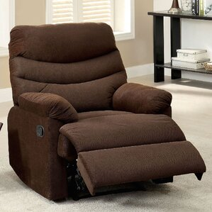 Lora Upholstered Manual Rocker Recliner by A..
