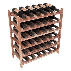 Karnes Redwood Stackable 36 Bottle Floor Wine Rack by Red Barrel Studio