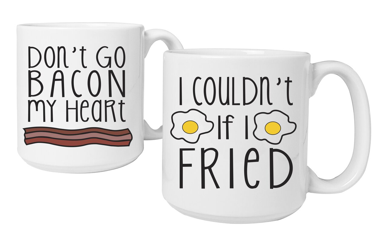 Bacon and Eggs Coffee Mug Set