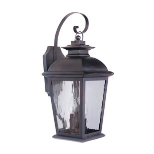 Reviews Staggs 3-Light Outdoor Wall Lantern By Red Barrel Studio
