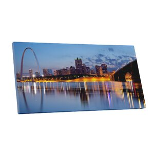 City Skylines St Louis Missouri Photographic Print on Wrapped Canvas by Pingo World