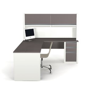 Find Karla L-Shape Desk Office Suite with Hutch By Latitude Run