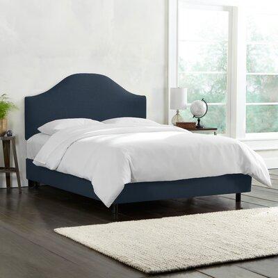 Katzer Upholstered Standard Bed Three Posts Teen Size: Queen, Color: Navy