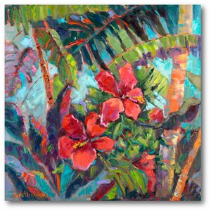 'Splash of the Tropics II' Painting Print on Wrapped Canvas by Bay Isle Home