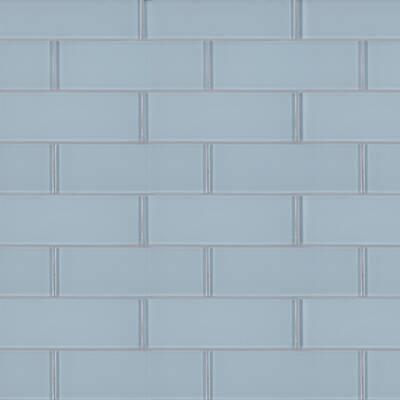 Ice 3 X 9 Gl Subway Tile In White