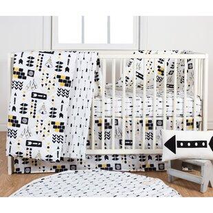 Online Reviews Aztec 3 Piece Crib Bedding Set ByPoppi Living