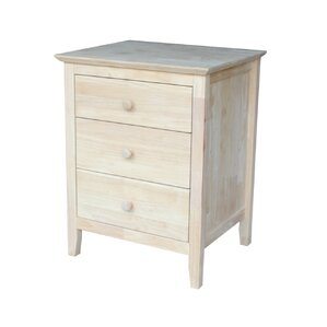 jessa 3 drawer nightstand