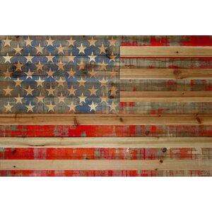 'American Dream' by Parvez Taj Painting Print on Natural Pine Wood by Mercury Row