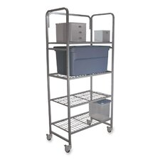 Mobile 76 H 4 Shelf Shelving Unit by Buddy Products