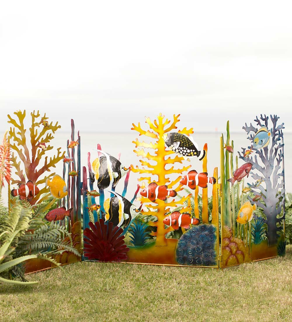 Wind & Weather 3.5 ft. H x 7.5 ft. W Under the Sea Screen Garden ...