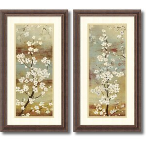 Blossom Canopy by Asia Jensen 2 Piece Framed Painting Print Set by World Menagerie