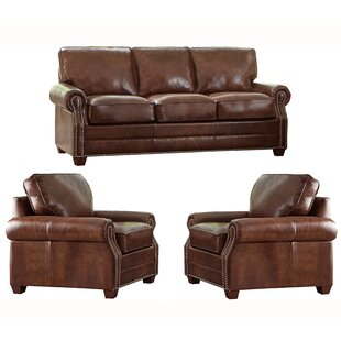 Lyndsey 3 Piece Leather Sleeper Living Room Set by 17 Stories