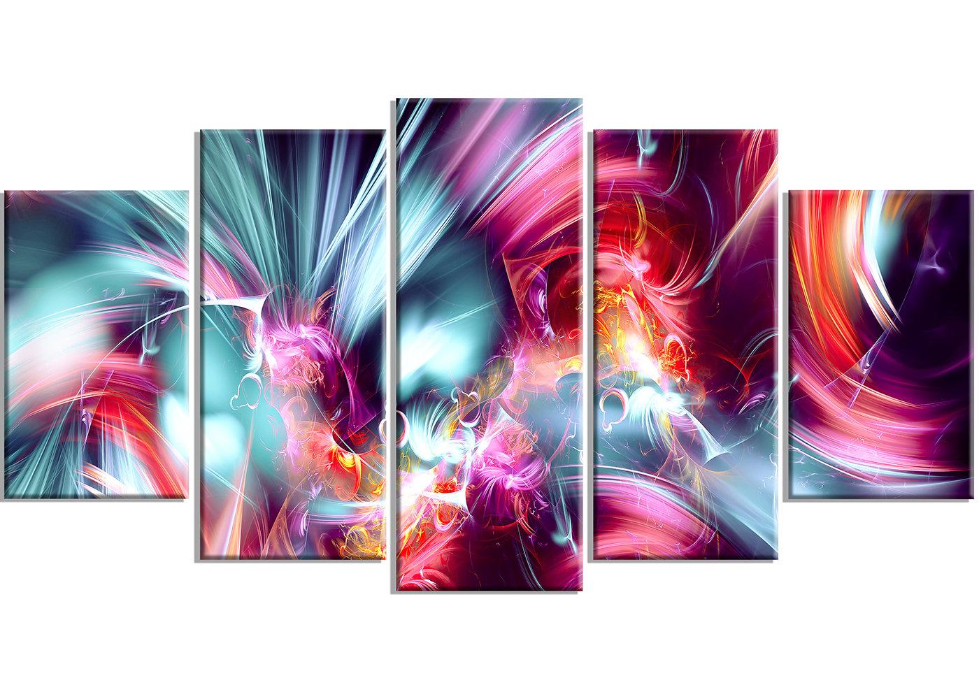 Designart Take Me Over 5 Piece Graphic Art On Wrapped Canvas Set Reviews Wayfair