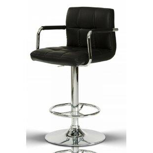 Clower Contemporary Footrest Adjustable Height Swivel Bar Stool by Orren Ellis
