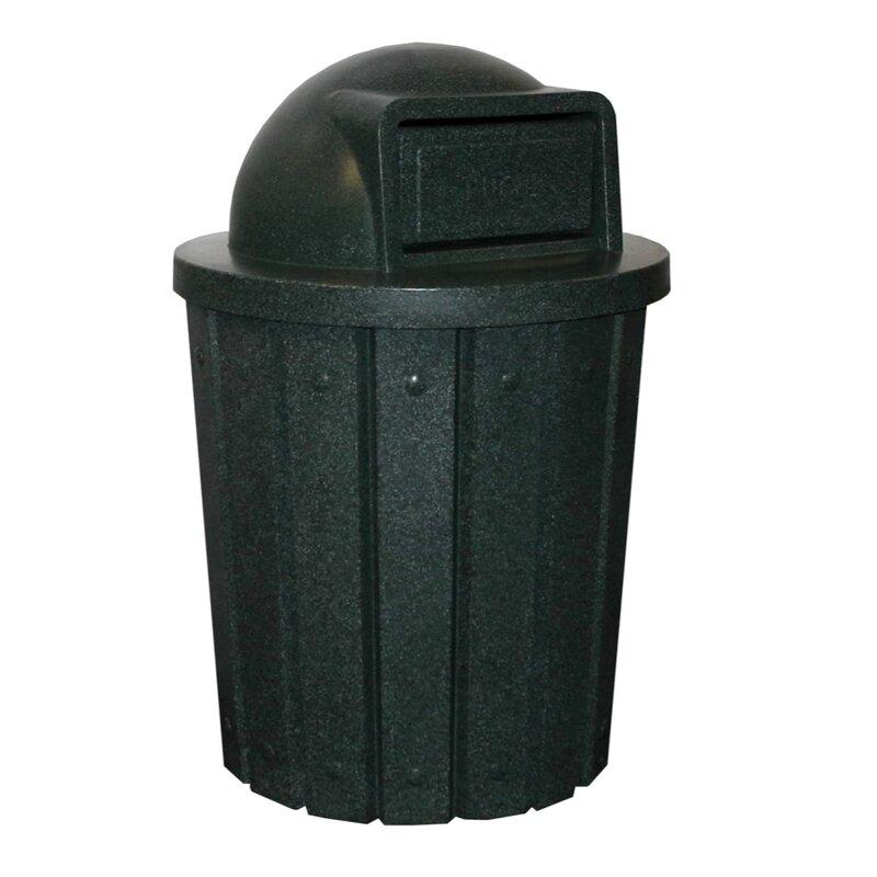 kolorcans signature receptacle 42 gallon swing top trash can reviews. Black Bedroom Furniture Sets. Home Design Ideas