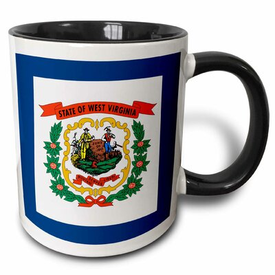 Flag of West Virginia American United State of America Farmer Miner Coat of Arms Wreath Coffee Mug East Urban Home -  E96ABCDE6FEE41A1A53A557A4E3B6FCD