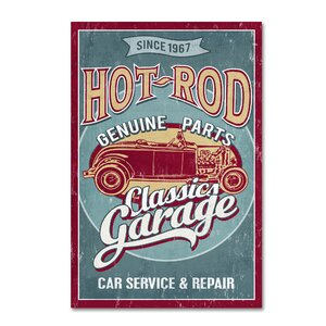 'Rat-Rod' Vintage Advertisement on Wrapped Canvas by Red Barrel Studio