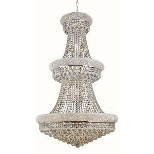 Jessenia Glam 32-Light Chain Crystal Chandelier